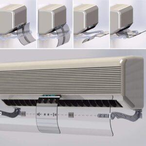 التصميم الشكلي لموزع هواء المكيف