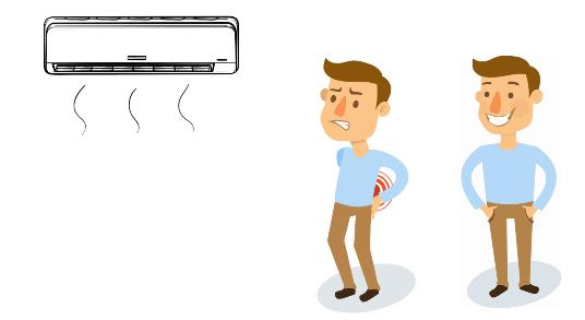 ما هي الأضرار المتوقعه والناجمه عن عدم إستخدام موجه تدفق هواء المكيف؟